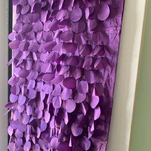 2 Lush Purple Drapes w/ Floating Circles